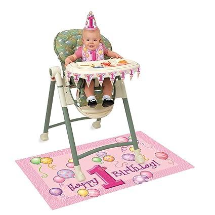 Amazon Pink 1st Birthday High Chair Decorating Kit 4pc Kitchen Dining
