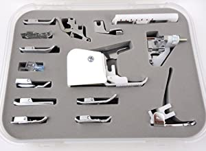15 pcs Sewing Machine Presser /Walking Feet Kit - Suitable With Babylock, Janome, Brother, New Home, Singer, Kenmore, Simplicity, Elna, Toyota, Necchi