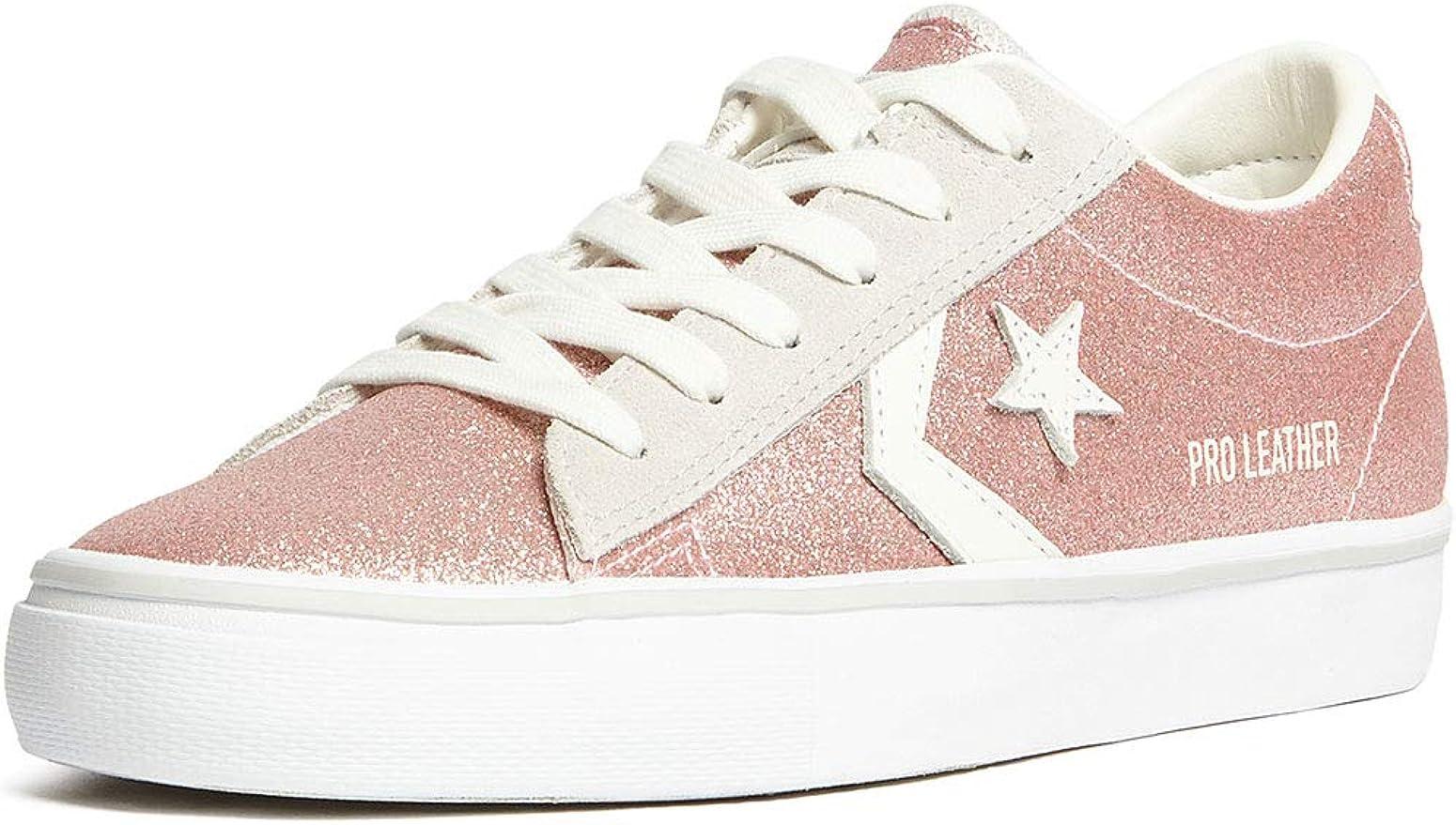 Converse 560968C Pink Rosa Scarpe Sneakers Donna Lacci Pelle Glitter