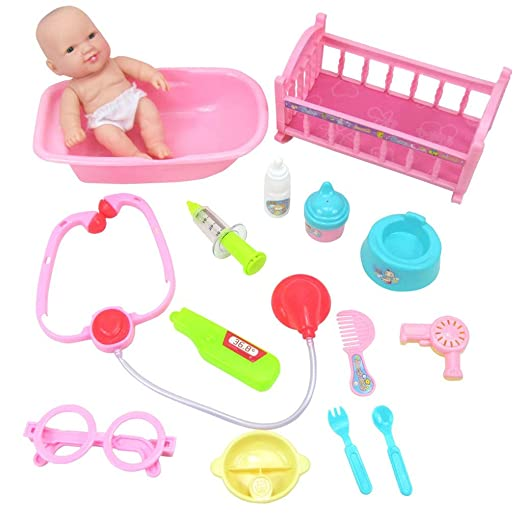 Juego de juguetes para muñecas, para la cama, para el médico ...