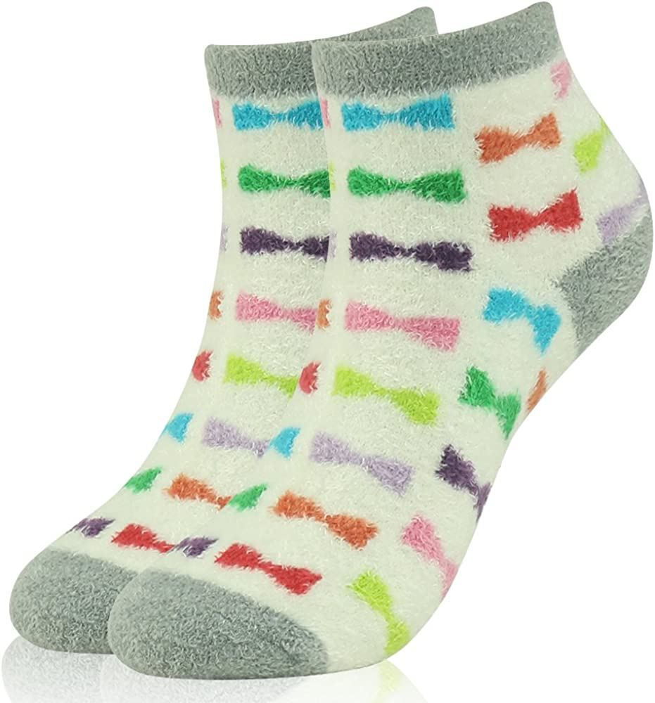 Thermal No Show Animal Slipper Socks With Grippers 3 Pairs Polar Extreme