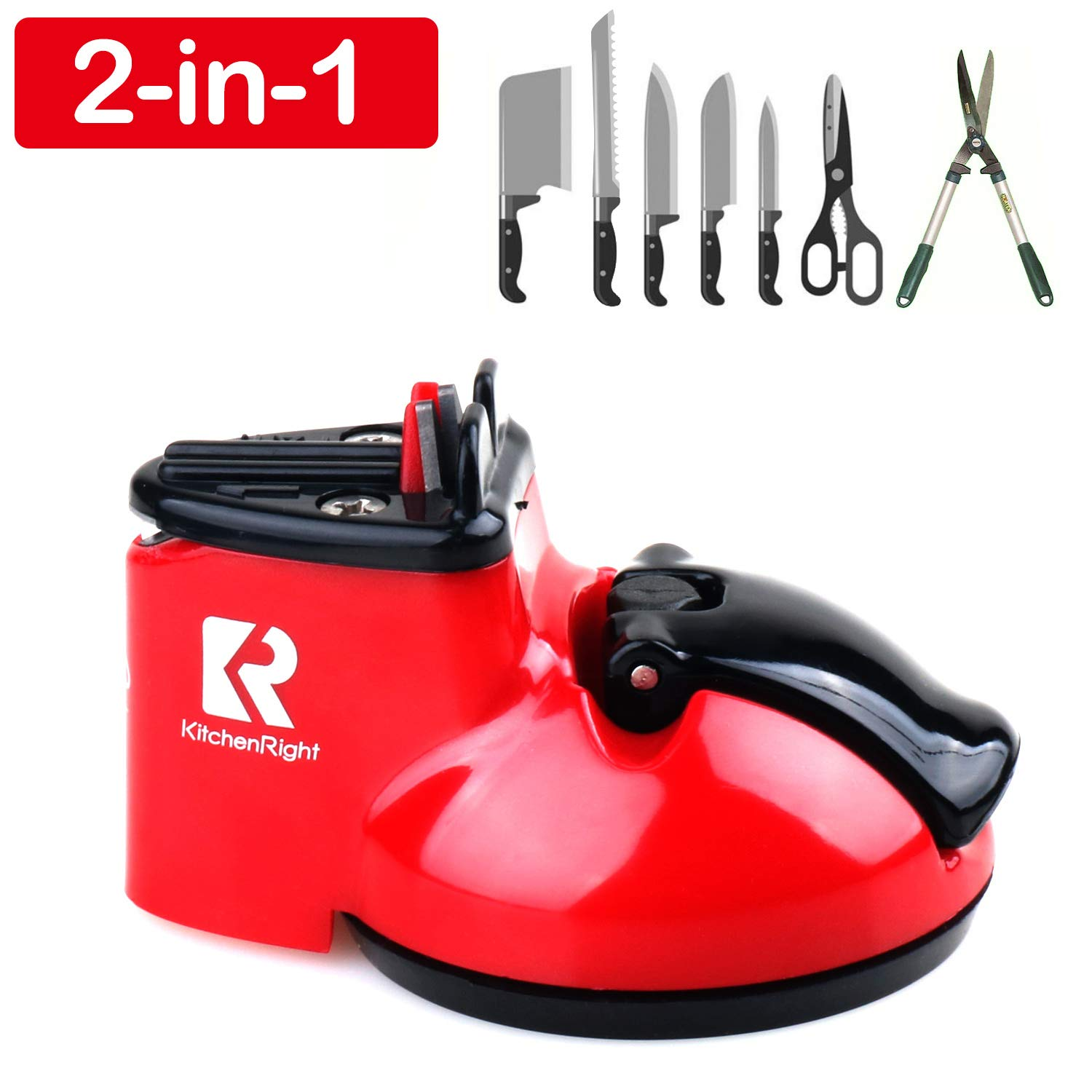 Kitchen Knife Sharpener Scissor Sharpener 2-Stage Knife & Scissor Sharpening Tool Helps Repair Camping & Hiking Precision Perfect,Calibration Easy Safe KitchenRight by KitchenRight (Image #2)