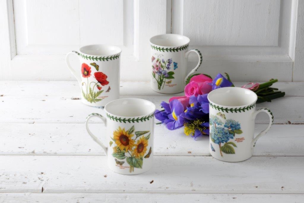 Botanic Garden - Juego de 4 tazas de porcelana, multicolor, 8,5 x 12 x 10,5 cm: Amazon.es: Hogar