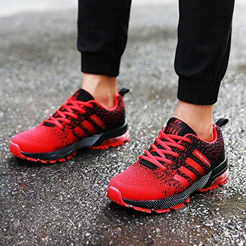 Chemin Décontractée Outdoor Homme Route Baskets Gym Et Fitness Running Sneakers De K01rouge Chaussures Légères Gudeer Sport x8PggI