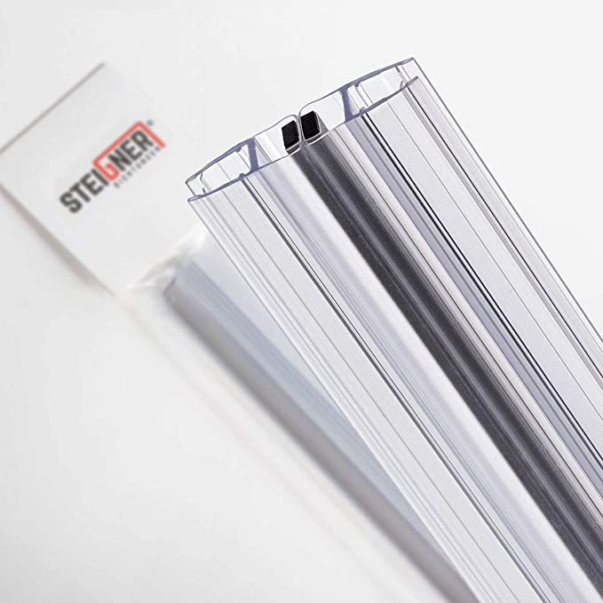 STEIGNER 200cm Joint de douche arrondi courb/é pour les vitres d/'une /épaisseur 3,5 mm// 4 mm// 5 mm UK04