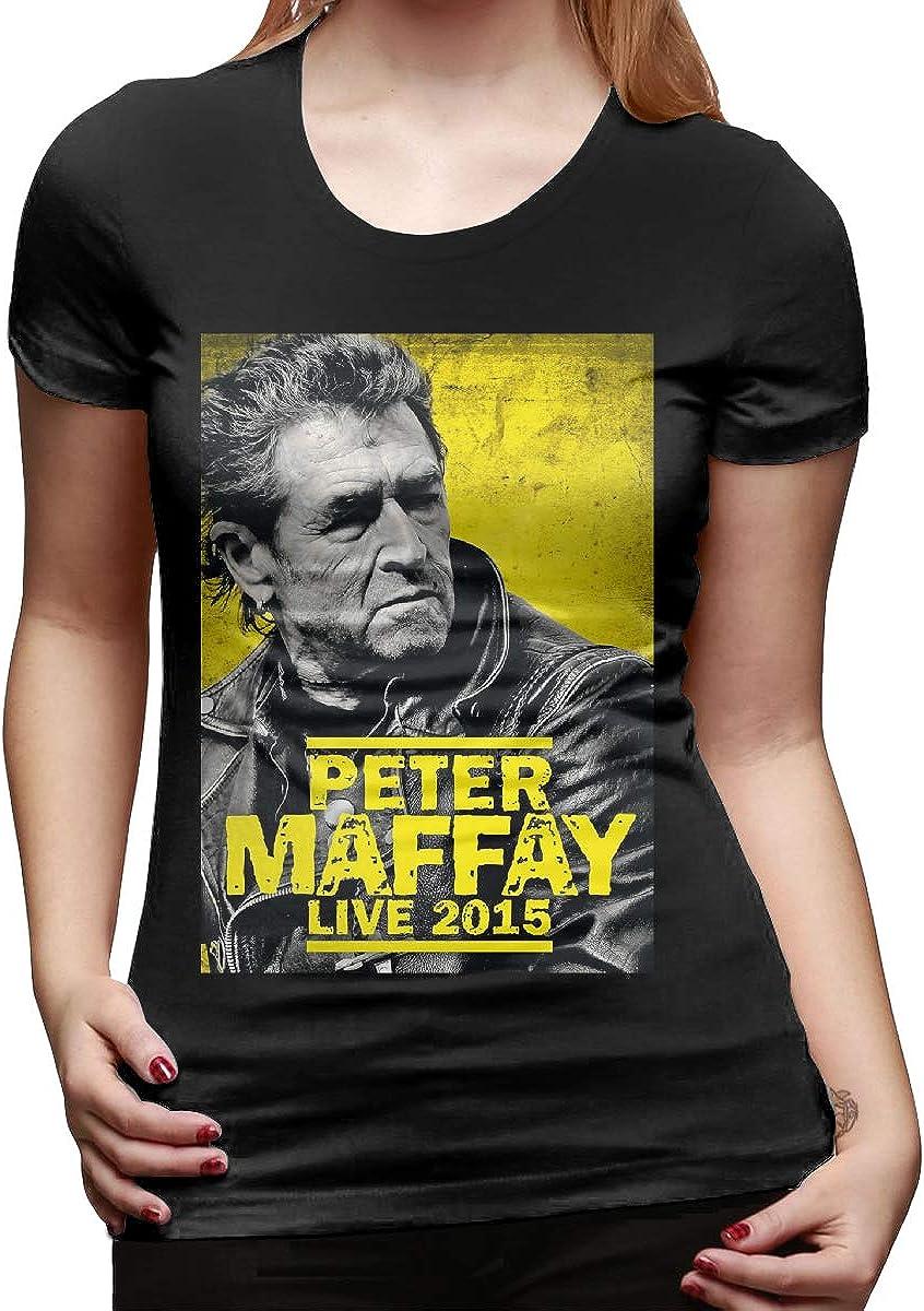 JohnnyKJayTee Women's Peter Maffay 2015 Leisure T-Shirt Black with Creative Printed Short Sleeve 61oZkQsOSlL