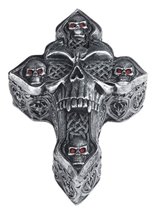 Amazon.com: Gótico Celta Celtic forma de cruz ataúd con tapa ...