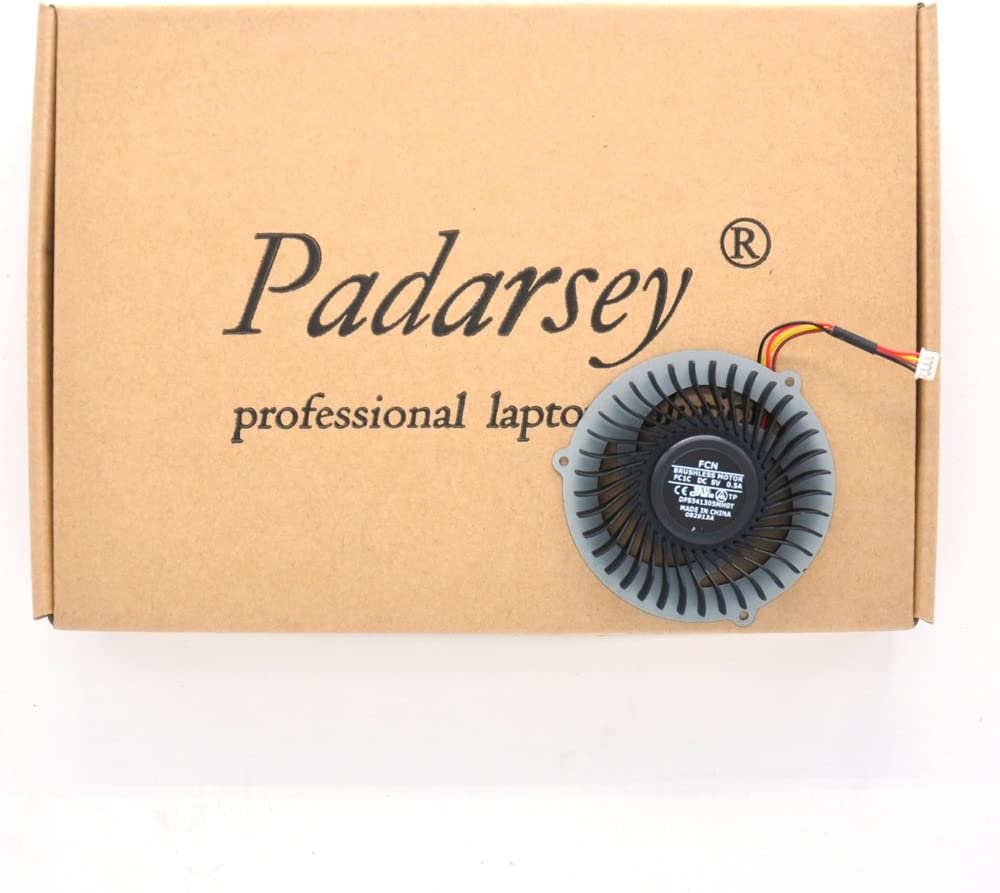 Padarsey Replacement CPU Cooling Cooler Fan for Lenovo IdeaPad Y400 Y500 Series, Compatible with Part Numbers DFS541305MH0T 032114A (Note: The Part# May be Different)