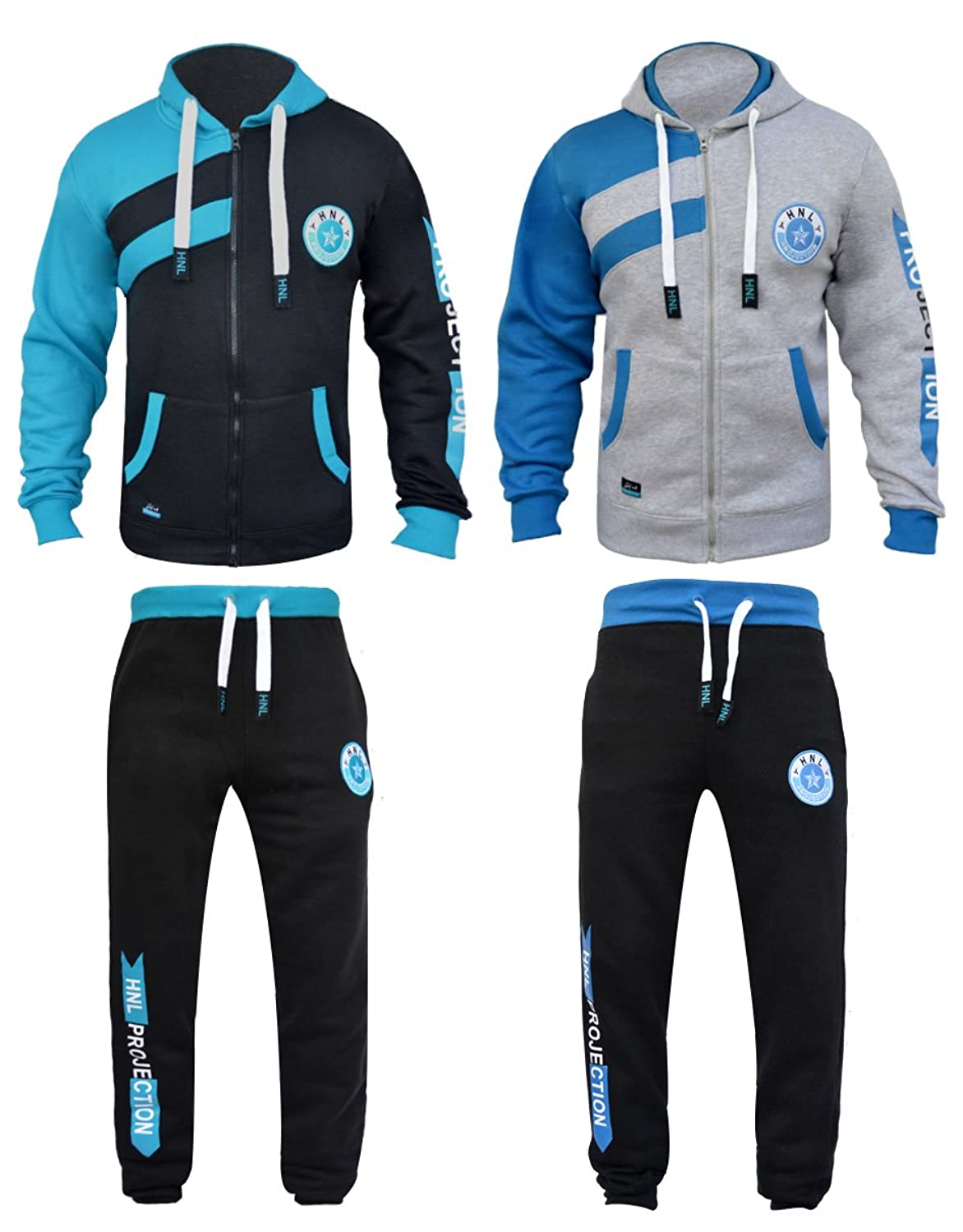 fef109cb2e Boys Tracksuits Children Jogging Sets 2 Piece Hooded Top & Bottom Set Age 7  8 9 10 11 1 2 13 Years