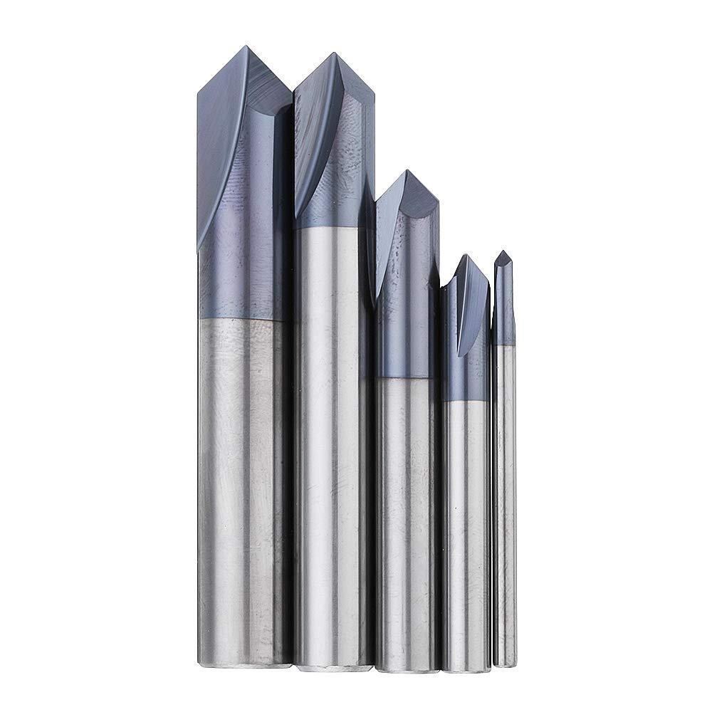 RanDal /2 cannelures 90 degr/és 2-12Mm Fraise /à chanfreiner carbure Fraise en bout Hrc45 Fraise de fraisage 2Mm
