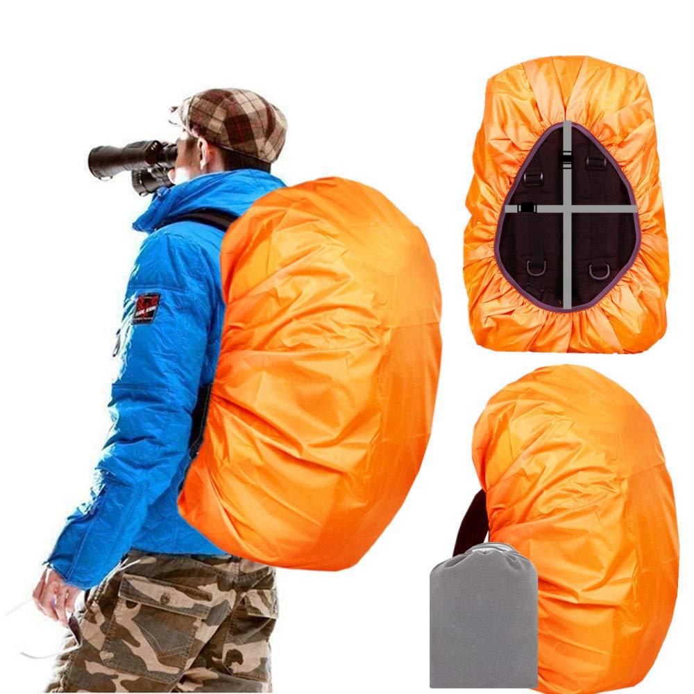 Joy Walker Backpack Rain Cover Waterproof Breathable Suitable for (15-30L, 30-40L, 40-55L, 55-70L, 70-90L) Backpack Hiking/Camping/Traveling (Orange, Small (for 15-30L Backpack)) by Joy Walker