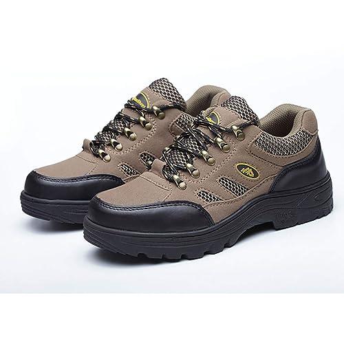 Zapatos de fondo blando Puntera de acero macho Anti-aplastamiento Desgaste transpirable de cuero Zapatos de seguridad de fondo de tendón de carne de vacuno ...