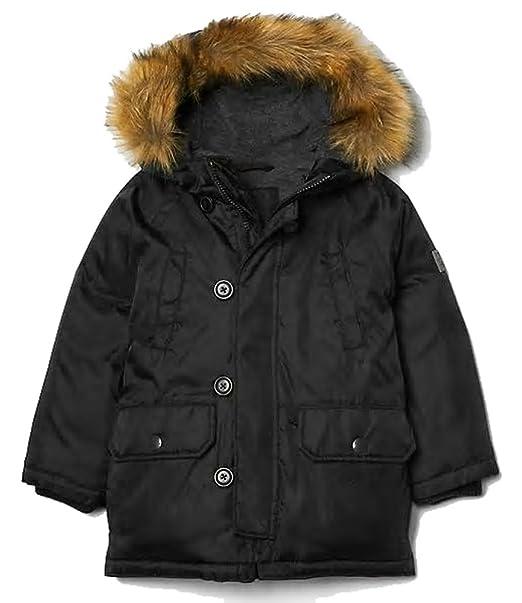 755743f5543 Baby Gap Boys Black Warmest Down Snorkel Parka Coat 12-18 Months ...