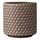 Bloomingville A75100046 Round Brown Polka Dot Stoneware Flower Pot