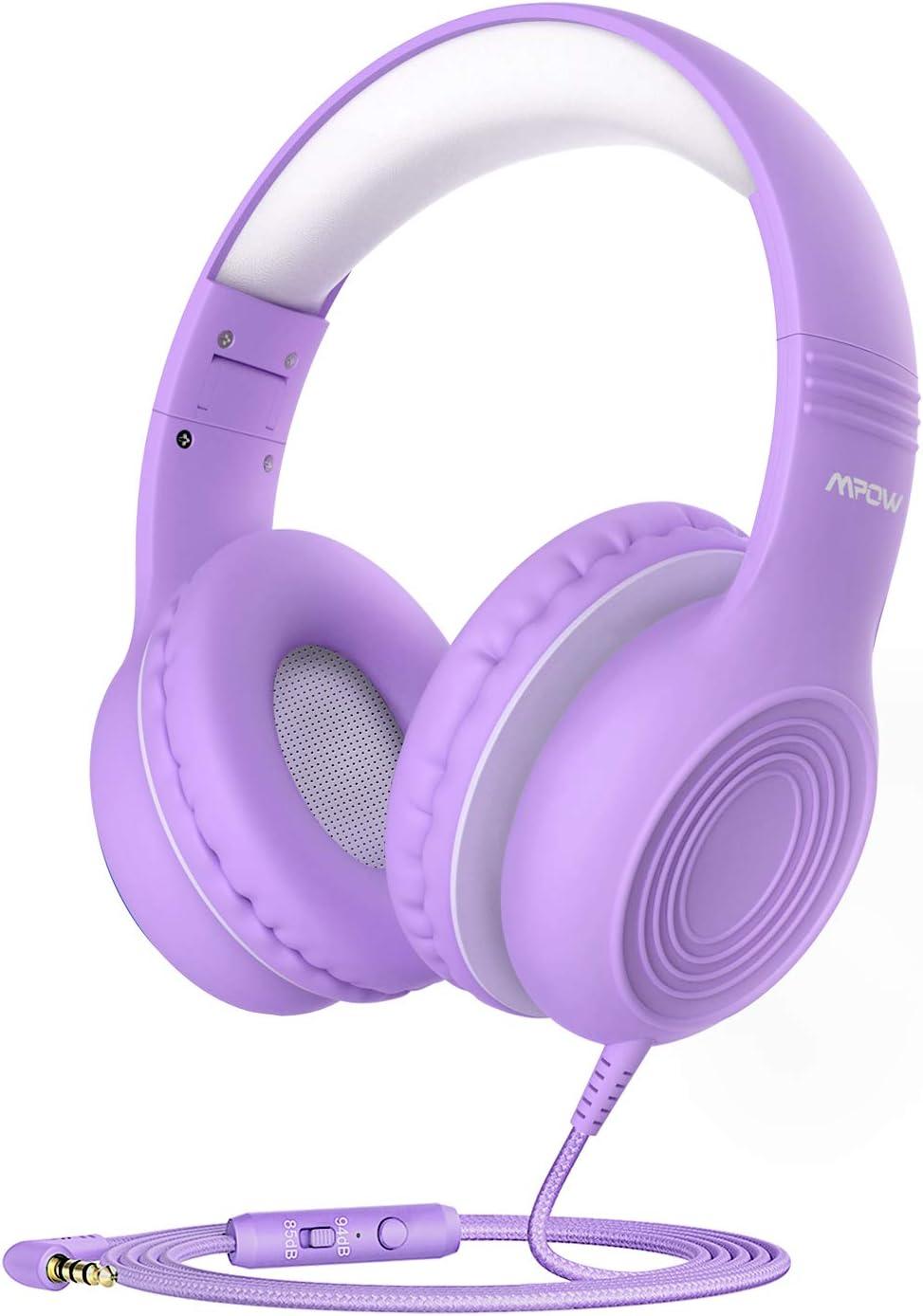 Purple headphones.