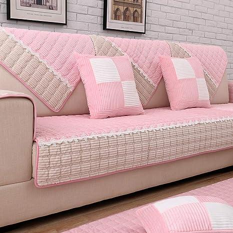 Amazon.com: Funda de sofá de peluche corto de invierno ...