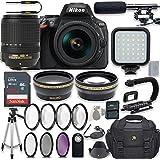 Nikon D5600 24.2 MP DSLR Camera Video Kit with AF-S DX NIKKOR 18-140mm f/3.5-5.6G ED VR Lens + LED Light + 32GB Memory + Filters + Macros + Deluxe Bag + Professional Accessories