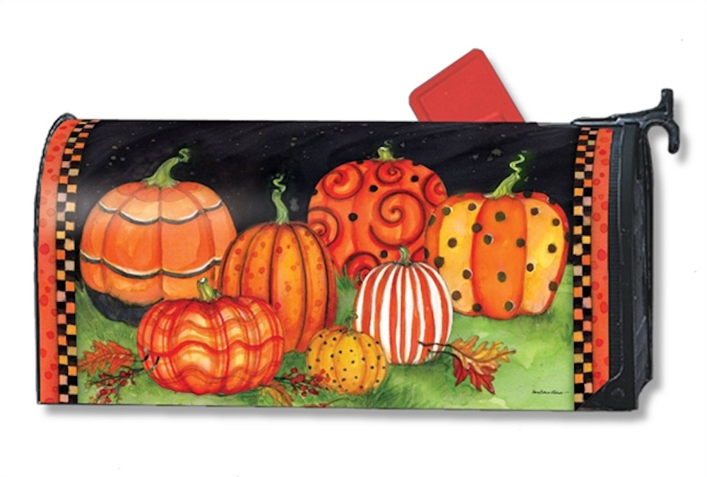 MailWraps Painted Pumpkins Mailbox Cover #01216 by Magnet Works - Studio M