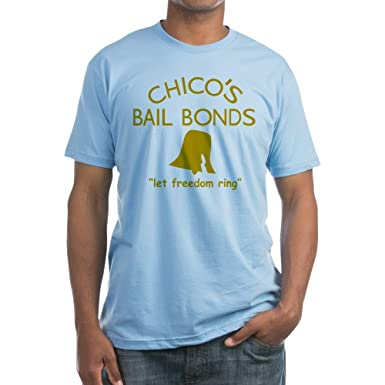 df948138eee Amazon.com: CafePress - Chico's Bail Bonds T-Shirt - Fitted T-Shirt,  Vintage Fit Soft Cotton Tee: Clothing