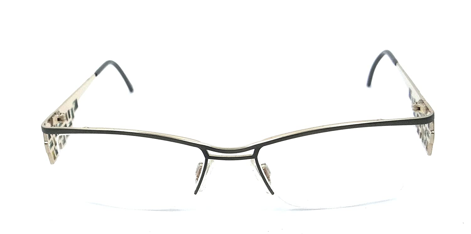 edcbcf44b0af Amazon.com  Cazal Rx Eyeglasses Frames 4170 003 52x16 Green Titanium Made  in Germany  Health   Personal Care