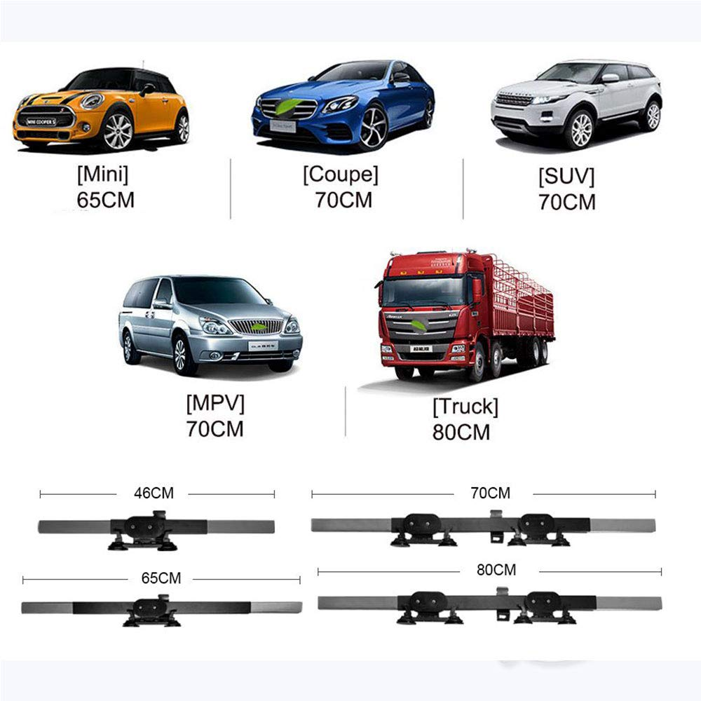 LOCEN Car Retractable Windshield Visor Shutter Blinds,Car Sun Shades Cover, Front Window SUV Protector for Universal Motor Vehicles