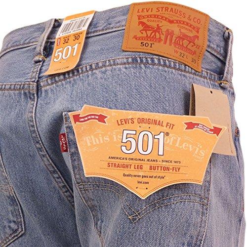 Levi's 501 Original Fit - Jeans para Hombre Light Broken In