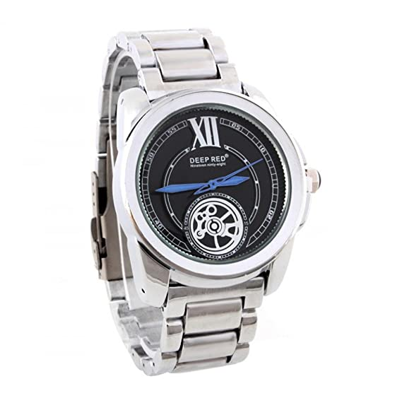 Regalo Business Beauty Online Soko reloj de cuarzo relojes para hombre acero inoxidable número de casa número reloj analógico redondo cierre esfera pulsera: ...