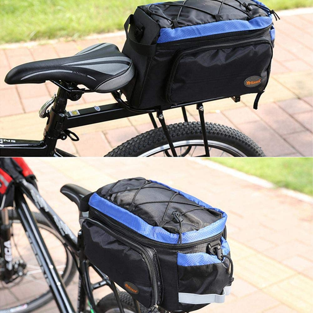 Volwco Bicycle Rear Rack Trunk Bag Reflective Bike Trunk Bag Waterproof /& Lightweight Bicycle Rack Rear Carrier Bag Commuter Bike Luggage Bag Pannier with Rain Cover