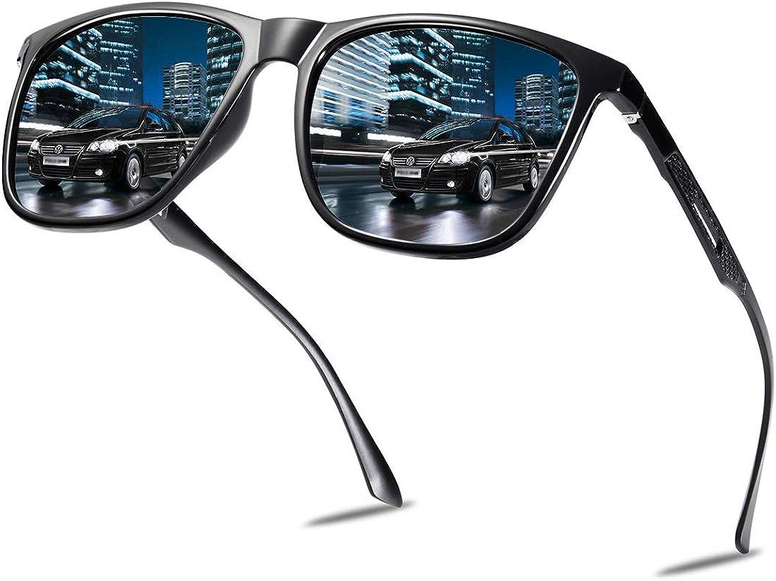 MUCO Polarizado Unisex Gafas De Sol Lente De Espejo De Conducci/ón Protecci/ón UV Con Estuche Marca