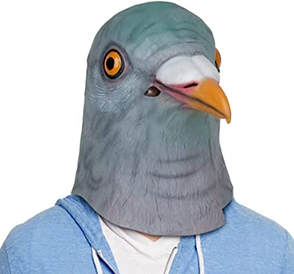 Latex Full Head Animals Realistic Pigeon High Quality Fancy Dress Up Party Masks