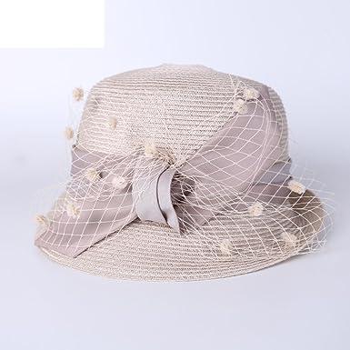 KYWBD Acoplamiento de Las señoras de Sombrero de Paja, Gorra de ...