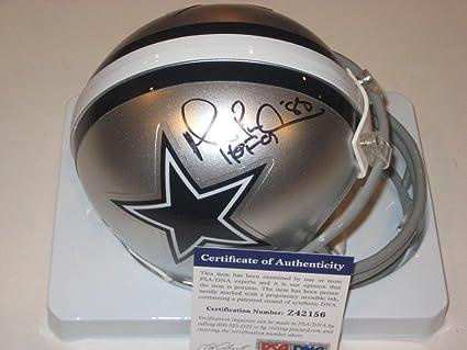 48399b1b Michael Irvin Signed Dallas Cowboys Mini-Helmet with - PSA/DNA Certified  Coa &