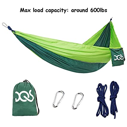 Portable Camping Hammock Parachute Nylon Cloth Sleeping Swing Hammock For Outdoors Backpacking Travel Beach Sports & Entertainment