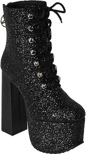 Killstar Bowie Glitter Platform Boots