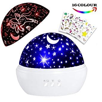 Unicornio regalo edad 1 – 6, unicornio luz de noche, Star ...