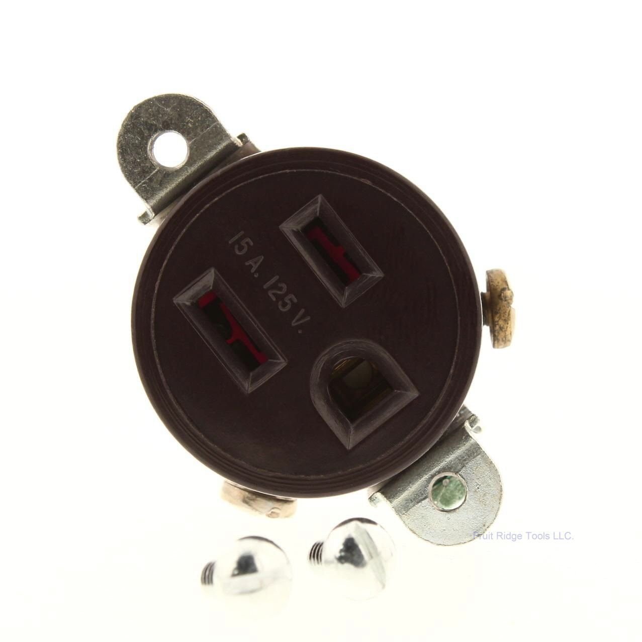 Legrand-Pass & Seymour 5258 Pass and Seymour 5258-W 15A 125V 5-15R Single Receptacle