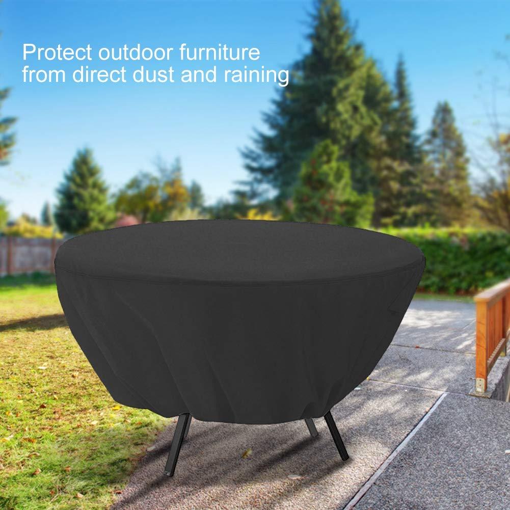 protecci/ón contra el Polvo para jard/ín Muebles para el Exterior Beige Patio Fdit Mesa Redonda Impermeable y Resistente al Viento