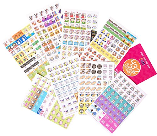 432 Planner Stickers - Busy Mom Collection for Calendars, Planners. Appointment Reminder Stickers, Doctors, School, Birthdays, Play Dates, Events, Scrapbook, Wedding, Vacation, Color Cute Designs (School Sticker Collection)