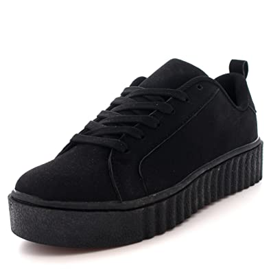 Womens Chunky Creepers Platform Lace Up Pumps Shoes