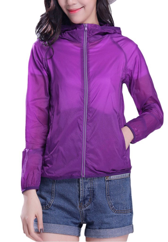 Akaeys Sunscreen Coat Women Thin Long Sleeve Hoodies Jacket