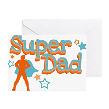 Amazon Cafepress Super Dad Greeting Card Note Card