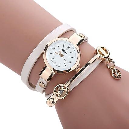 Reloj pulsera de metal para mujer, de Feitong, a la moda, mujer, Feitong, negro, women size: Amazon.es: Deportes y aire libre