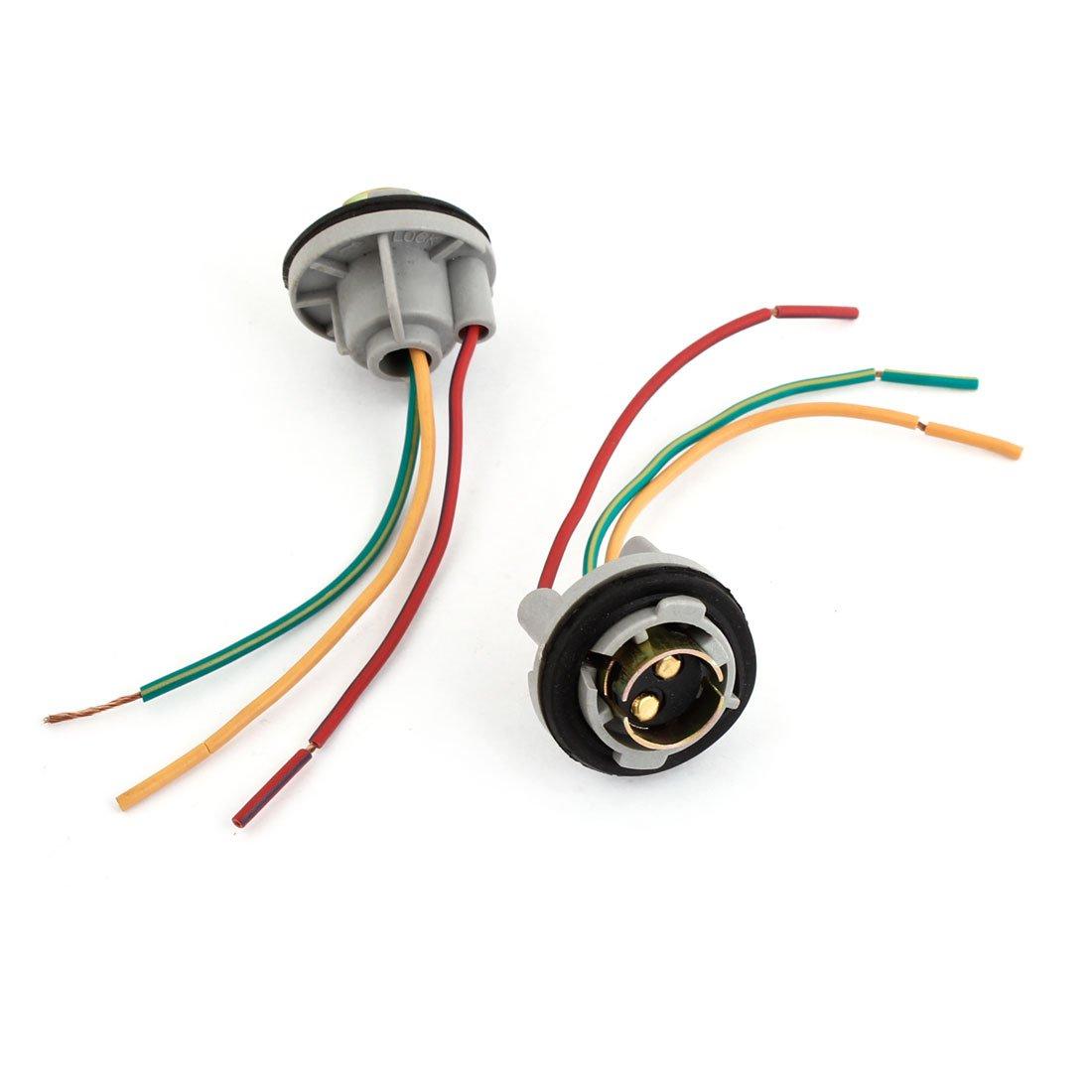 uxcell 1157 Signal Brake Light Bulb Socket Connector Wire Harness Plug 2 Pcs a14022000ux0115