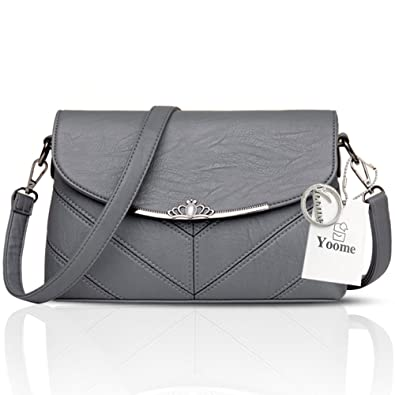 3261974a9f7f Yoome Women s Large Capacity Flap Bag Soft Envelope Bags For Girls Retro  Bags For Purse -