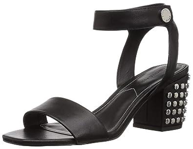 1055287af0a KENDALL + KYLIE Women s Sophie Heeled Sandal Black Leather 10 ...