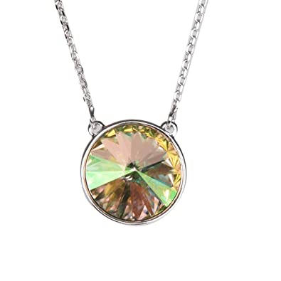 Image Unavailable. Image not available for. Color  Apple Green Color Crystal  Round Shape Swarovski Pendant ... 15a4b7fa8e