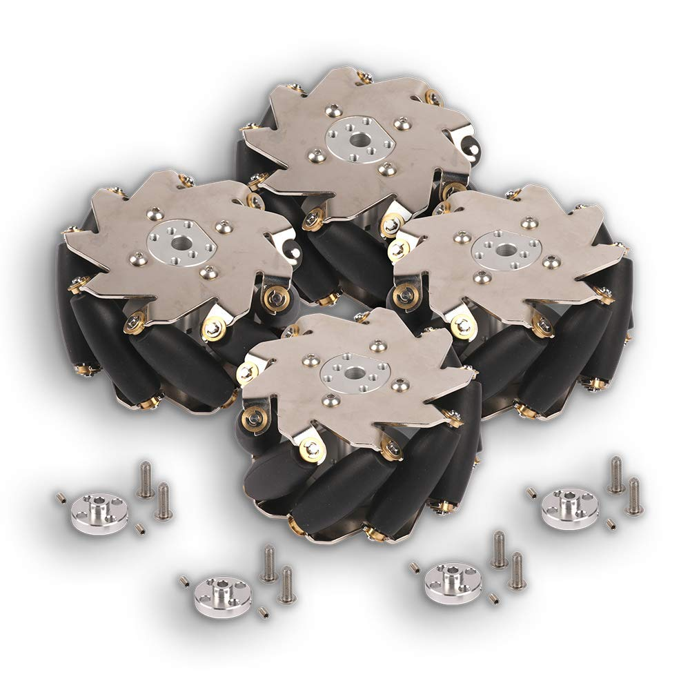 Makeblock 100mm Mecanum Wheel Set with 4mm Shaft Connector(SPCC) mb_95067