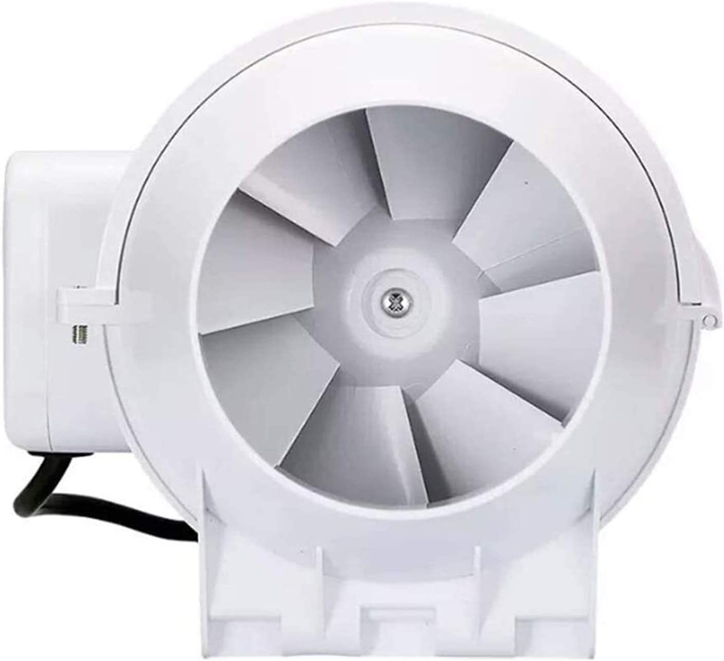 Conducto del ventilador de flujo mixto Inline 97 mm, conducto Extractor industria del ventilador Ventilaltion Ventilador for baño, el volumen de oficina, hotel, pasillo, hidropónico, Aire: 198m³ / h,