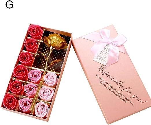 Walkretynbe - Jabón artificial con pétalos de rosa para el día de ...