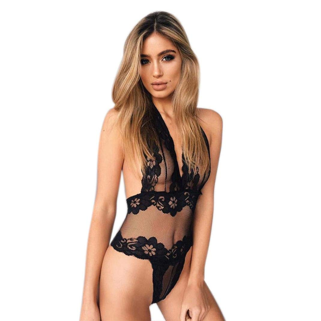 iTLOTL Women Crop Sheer Underwear Bandage One-Piece Lace Bralette Bustier iTLOTL TOPS NO.1
